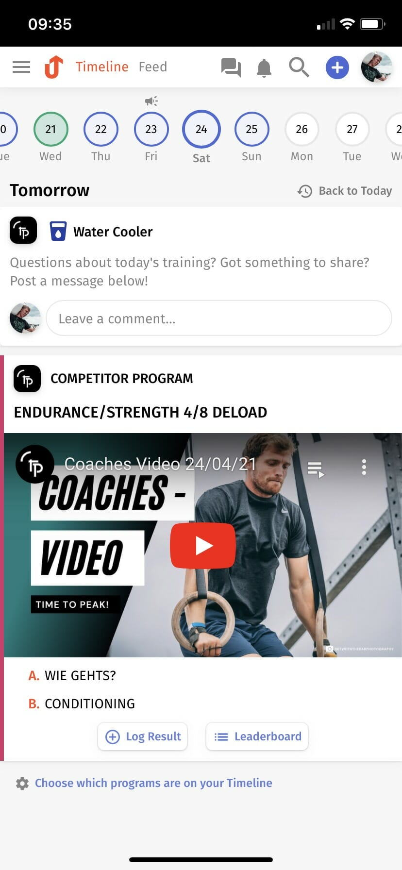 Time To Peak - Endurance & Strength